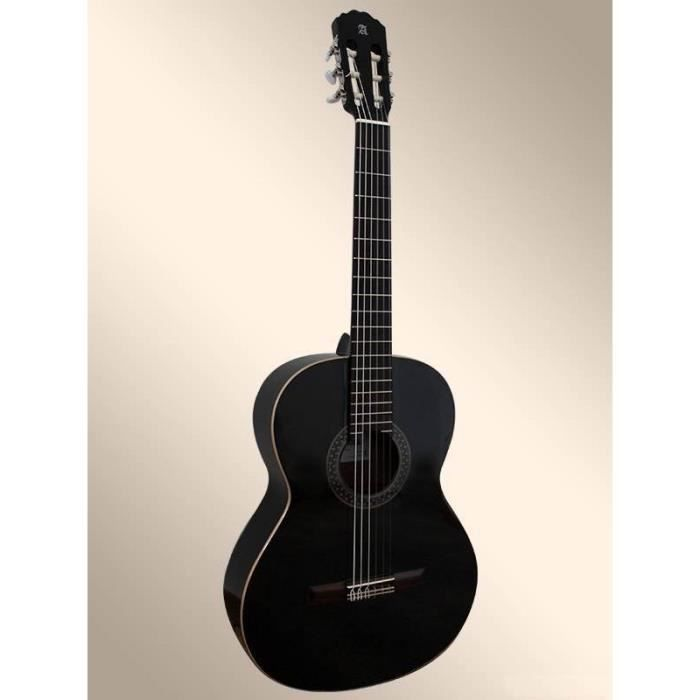 guitare classique alhambra 1c noire pas cher achat. Black Bedroom Furniture Sets. Home Design Ideas