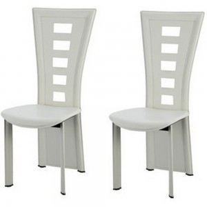 Chaises salle manger queen blanches x2 blanc achat for Chaise salle a manger
