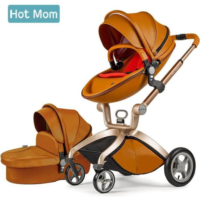 Hot Mom Poussette combinée Fashion ,Brun