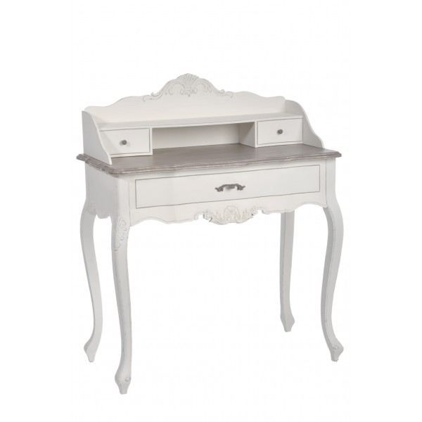 secr taire baroque j line blanc achat vente bureau. Black Bedroom Furniture Sets. Home Design Ideas