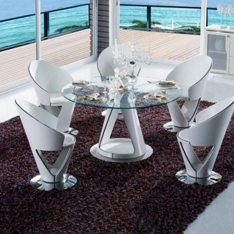 KRYSTAL Ensemble table et chaises - Achat / Vente salle à ...