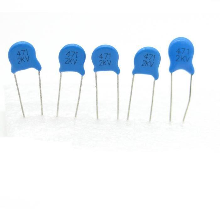 1kv 5x Condensateur ceramique 221-220pf 123con547 1000v Haute Tension