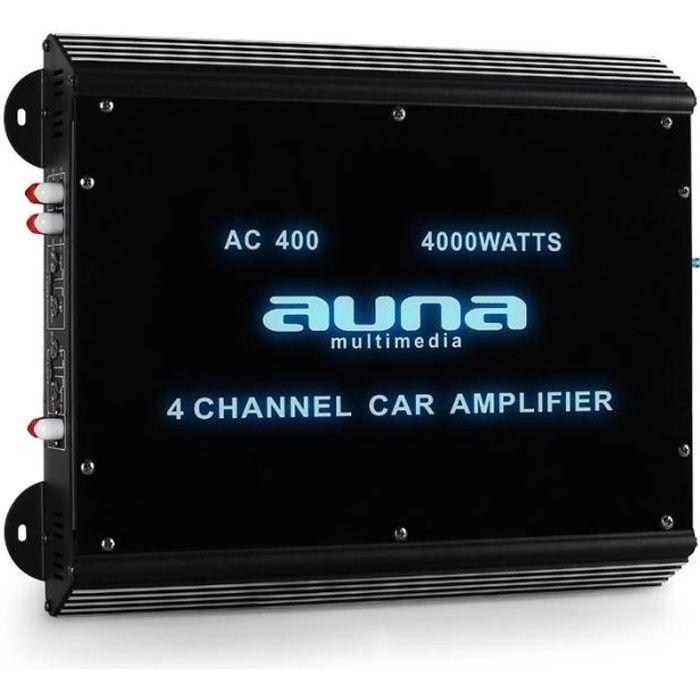AMPLIFICATEUR AUTO auna - Amplificateur auto 4 canaux 360W RMS avec e