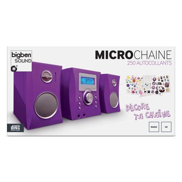 micro chaine radio cd violet stickers chaine hi fi. Black Bedroom Furniture Sets. Home Design Ideas
