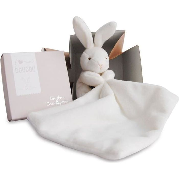 doudou et compagnie lapin mouchoir bo te fleur achat vente doudou 3561860003039 les soldes. Black Bedroom Furniture Sets. Home Design Ideas
