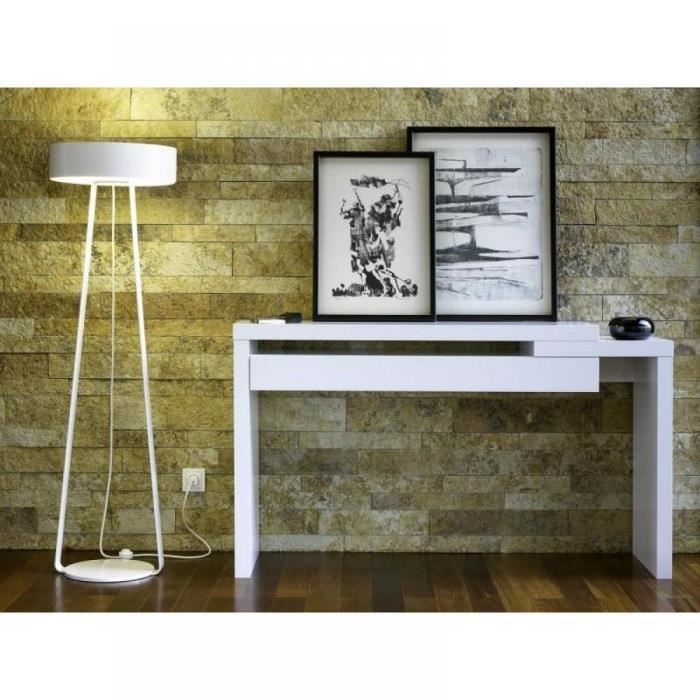 Riff meuble console laqu e blanc design achat vente for Console meuble design