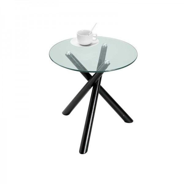 table d 39 appoint en verre valencia transparent achat vente bout de canap table d 39 appoint. Black Bedroom Furniture Sets. Home Design Ideas