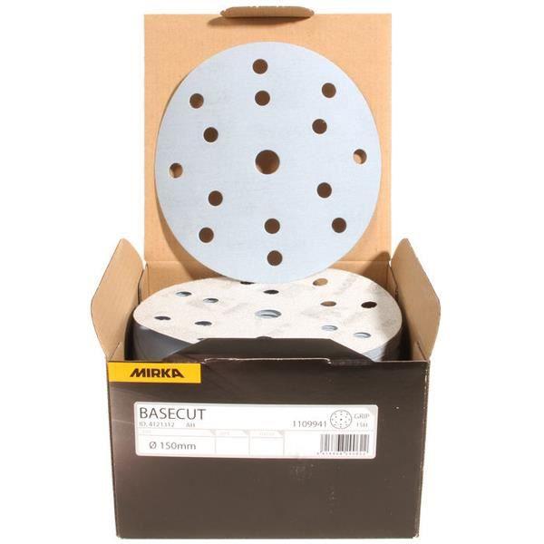 100 MIRKA Or velcro disques Meules 150 mm 9 fois perforées grain 120