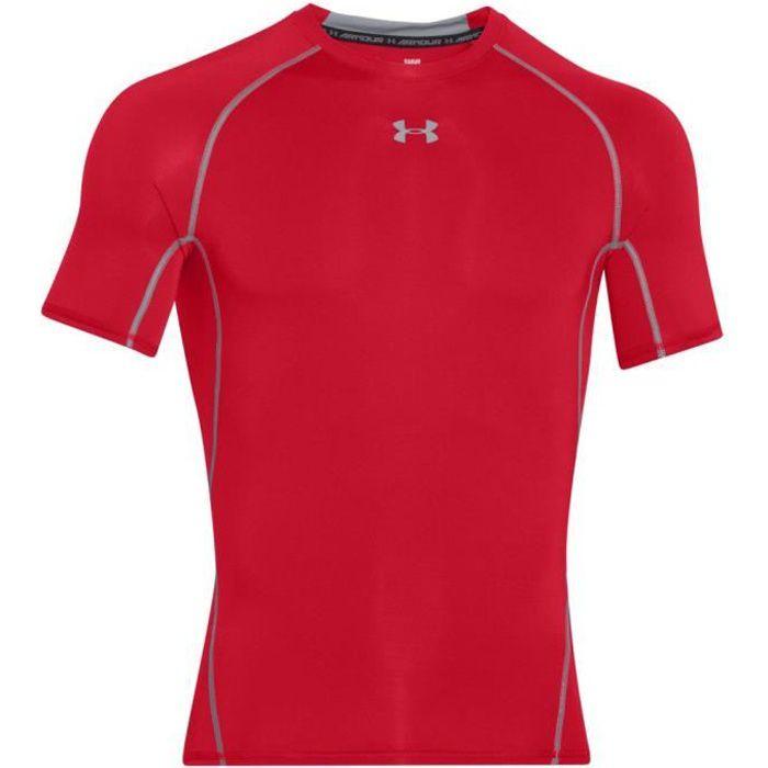 Nouveau Homme Base Layer T shirt de compression short sous peaux pare-balles top