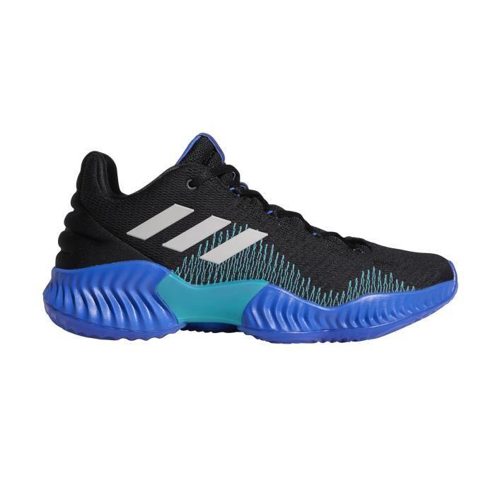 Chaussures basketball adidas Pro Bounce 2018 Low Noir Bleu