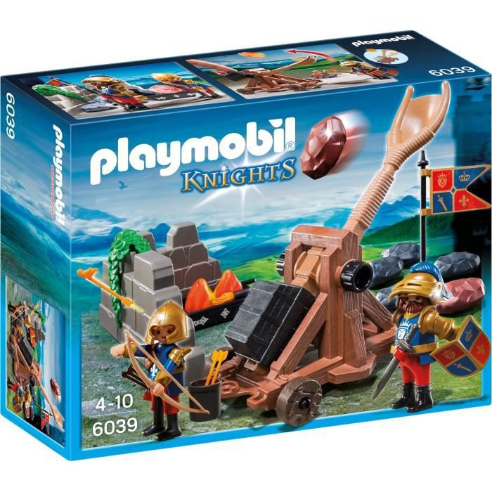 Playmobil 6039 chevaliers lion catapulte g ante achat for Playmobil caballeros