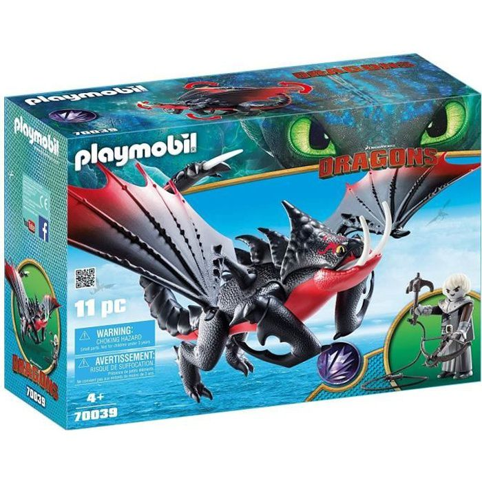 FIGURINE - PERSONNAGE PLAYMOBIL 70039 - Dragons 3 - Agrippemort et Grimm