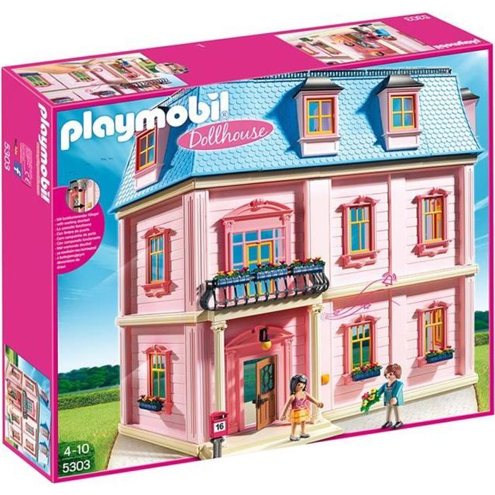 Playmobil 5303 maison traditionnelle achat vente for Photos maison playmobil