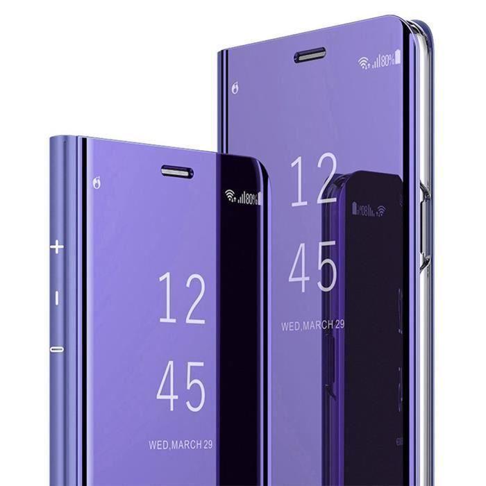 Coque Samsung Galaxy S8 Plus, Etui à Rabat Miroir