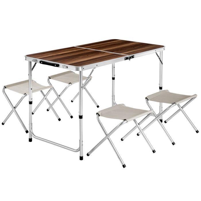 Tectake Table Pliante De Camping Valise 122 Cm X 62 Cm X 71 Cm 4