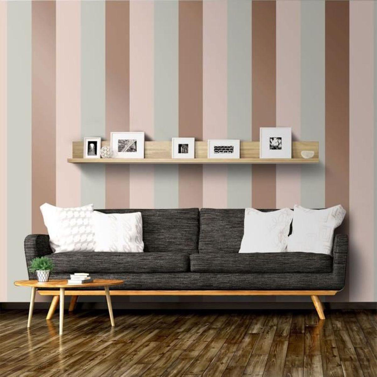 Papier Peint A Rayure Gris Et Blanc papier peint à rayures gris, rose et or rose direct wallpapers e40903