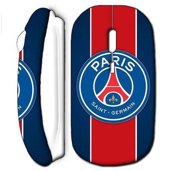 Souris Sans Fil Foot Psg Logo Club Blanc Prix Pas Cher Cdiscount