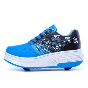 Wasnton Gar/çons Filles Chaussures /à roulettes 1Roue//2 Roues Respirant Patins /à roulettes pour Unisexe Enfants Retractable Basket a Roulette