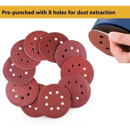 Disques de Ponçage à fixation en ponceuse excentrique environ Ø 125 mm Set...