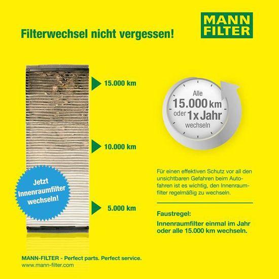 Original MANN-FILTER Filtre dhabitacle CUK 2440 Filtre /à charbon actif Pour v/éhicules particuliers