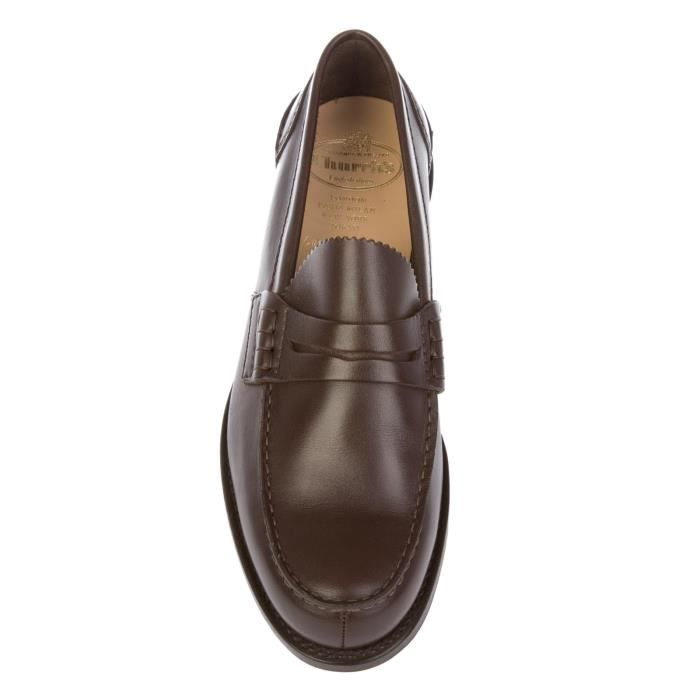 CHURCH'S HOMME PEMBREYPRESTIGEBROWN MARRON CUIR MOCASSINS
