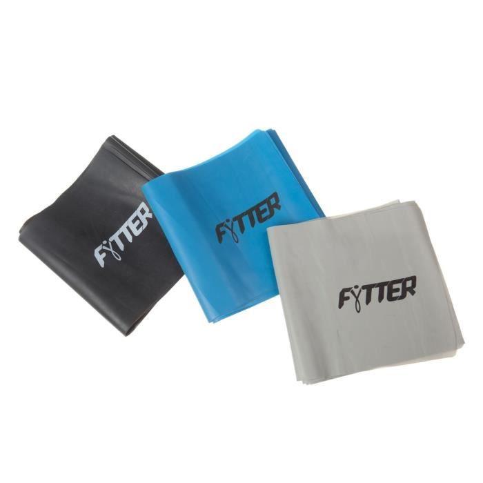 FYTTER Fitness band AFB03B, bandes en latex pour les exercices de tonification avec trois niveaux de résistance.