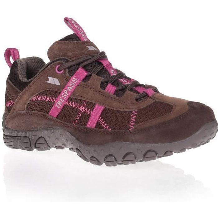 TRESPASS Chaussures de randonnée Fell - Femme - Café
