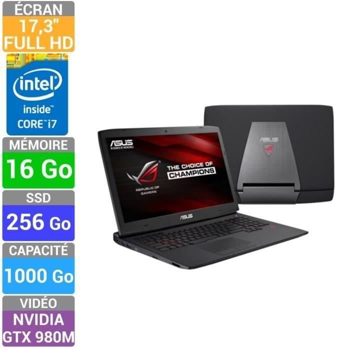 asus rog pc portable gamer g751jy t7103h prix pas cher. Black Bedroom Furniture Sets. Home Design Ideas