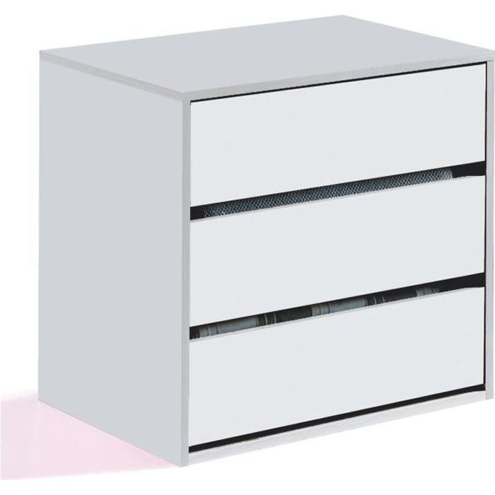 inside rangement 3 tiroirs pour armoire blanc achat. Black Bedroom Furniture Sets. Home Design Ideas