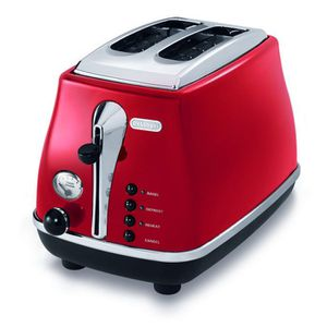 GRILLE-PAIN - TOASTER DELONGHI CTO2003R Grille pain Icona - Rouge