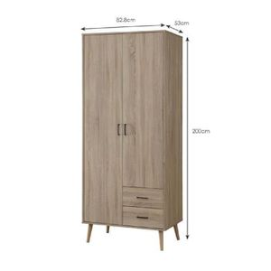 Armoire style scandinave achat vente armoire style for Armoire chambre soldes