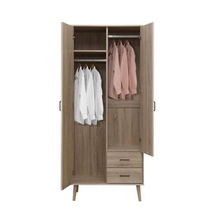 Armoire penderie bois massif achat vente armoire for Armoire chambre soldes