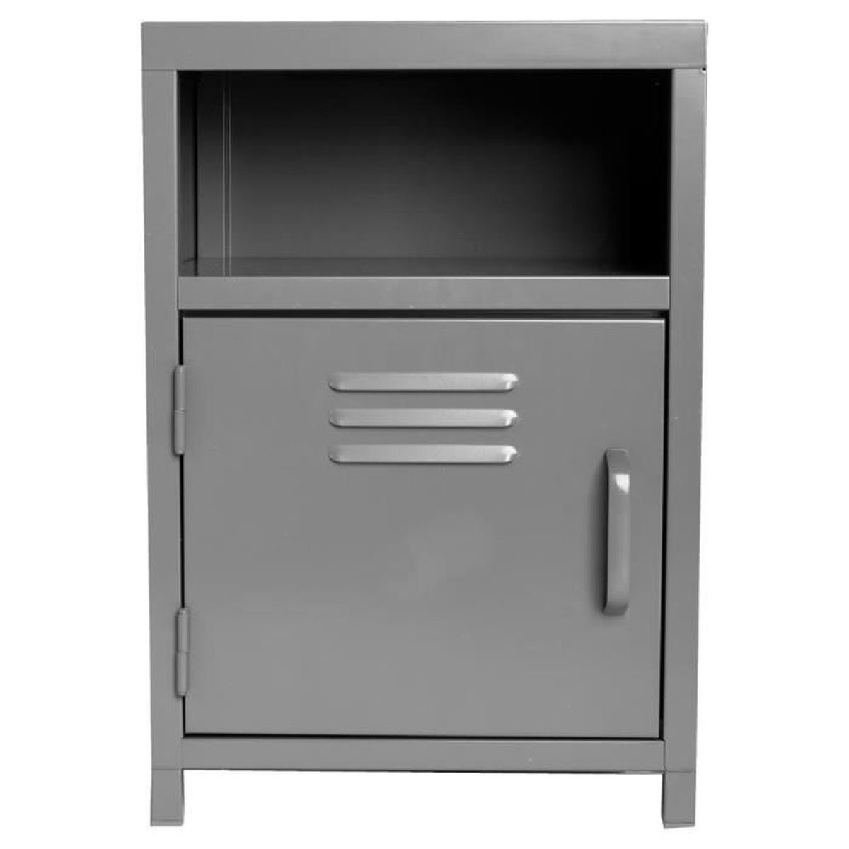 meuble de chevet 1 porte 1 niche coloris gris achat vente chevet meuble de chevet 1. Black Bedroom Furniture Sets. Home Design Ideas