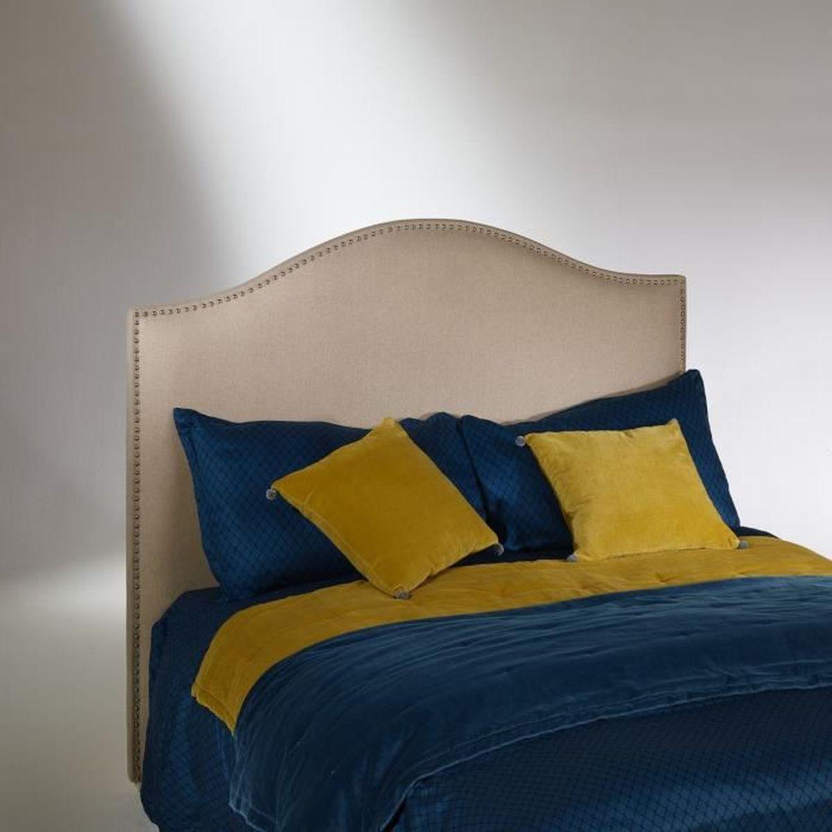TÊTE DE LIT Tête de lit, pin, cloutée, APOLLINAIRE