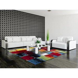 tapis salon multicolor achat vente tapis salon multicolor pas cher les soldes sur. Black Bedroom Furniture Sets. Home Design Ideas