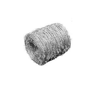 CLÔTURE - GRILLAGE Fil de fer barbelé 500 m, galvanisé type 100-4---E