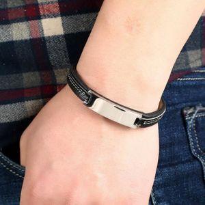 BRACELET - GOURMETTE Bracelet Personnalisé En Acier Inoxydable Leatherw