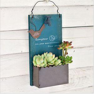 JARDINIÈRE - BAC A FLEUR 1pcs Support bleu pot de fleurs d'extérieur pour S