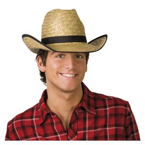 CHAPEAU - PERRUQUE Chapeau Cowboy Paille Adulte