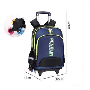 CARTABLE  Cartable à Roulettes Six roues Trolley Bag Sac à