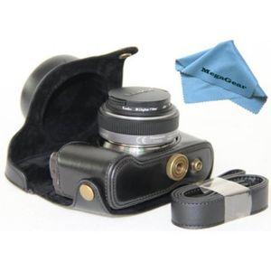 COQUE - HOUSSE - ÉTUI Etui de protection en cuir noir avec bandoulière p