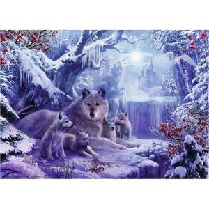 PUZZLE Puzzle 1000 pièces : Loups en hiver aille Unique C