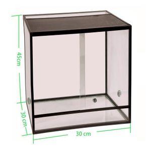 VIVARIUM - TERRARIUM Terrarium aluminium Elegance 30x30x45 Black /Set u