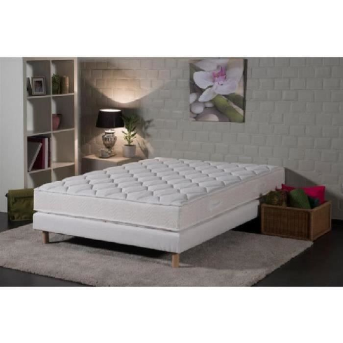 aquitaine ensemble matelas sommier 160x200 cm latex equilibr 75kg m 2 personnes. Black Bedroom Furniture Sets. Home Design Ideas