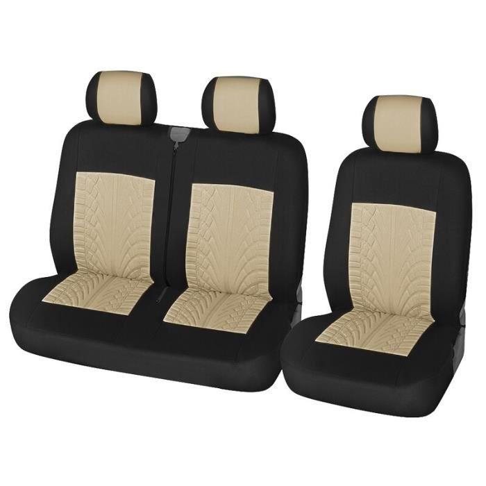 housses de sièges de voiture 2 + 1, protection pour Van-transporteur, en tissu Polyester universel, accessoires de camion [ECF6D3D]