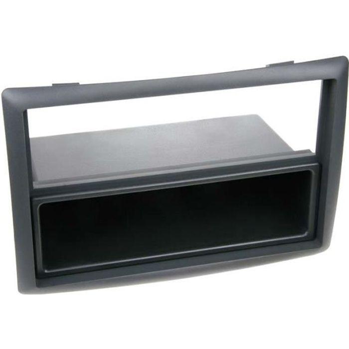 Adaptateur de façade 2-DIN avec vide poche Renault Megane II noir