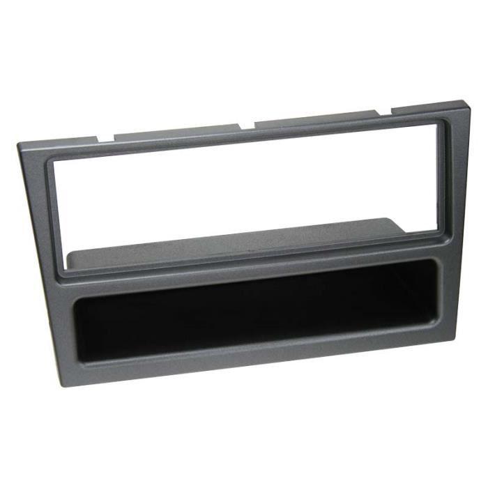 Adaptateur de façade 1-DIN avec vide poche Opel/Renault charbon metallic