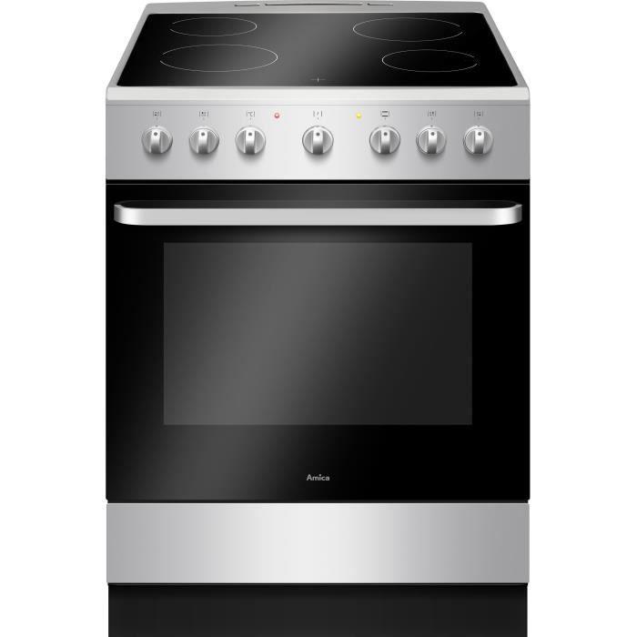 AMICA ACV6003S Cuisiniere Vitroceramique 60X60 Cm Silver