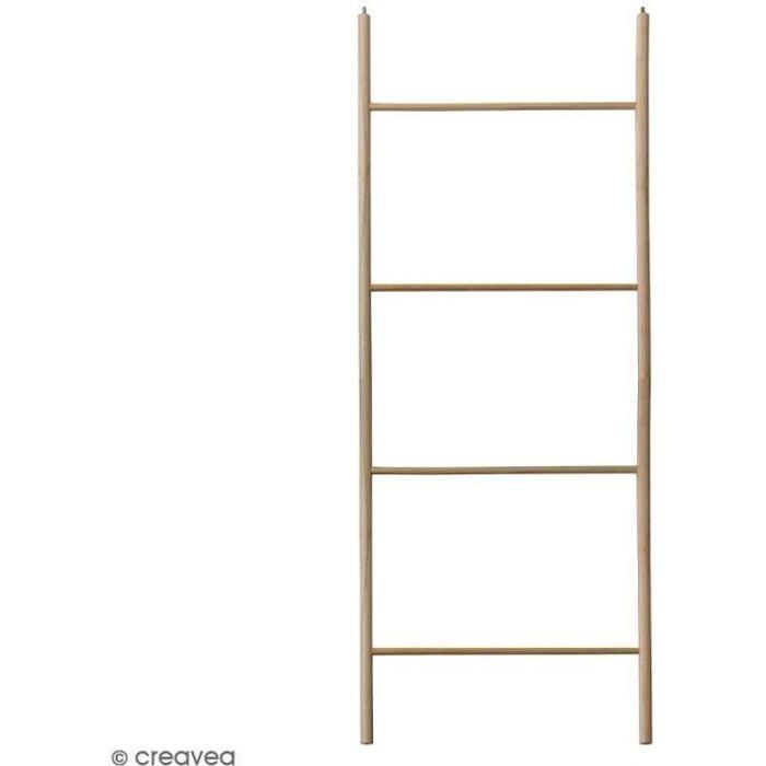 Echelle en bois brut - 40 x 100 cm - 2 pcs