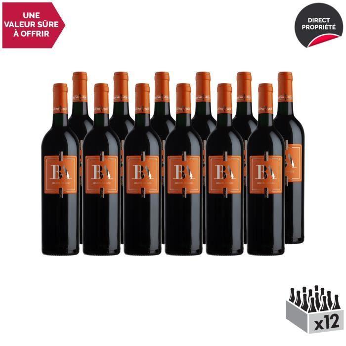 Côtes du Roussillon Villages Caramany Rouge 2017 - Lot de 12x75cl - Bruno Andreu - Vin AOC Rouge du Languedoc - Roussillon -